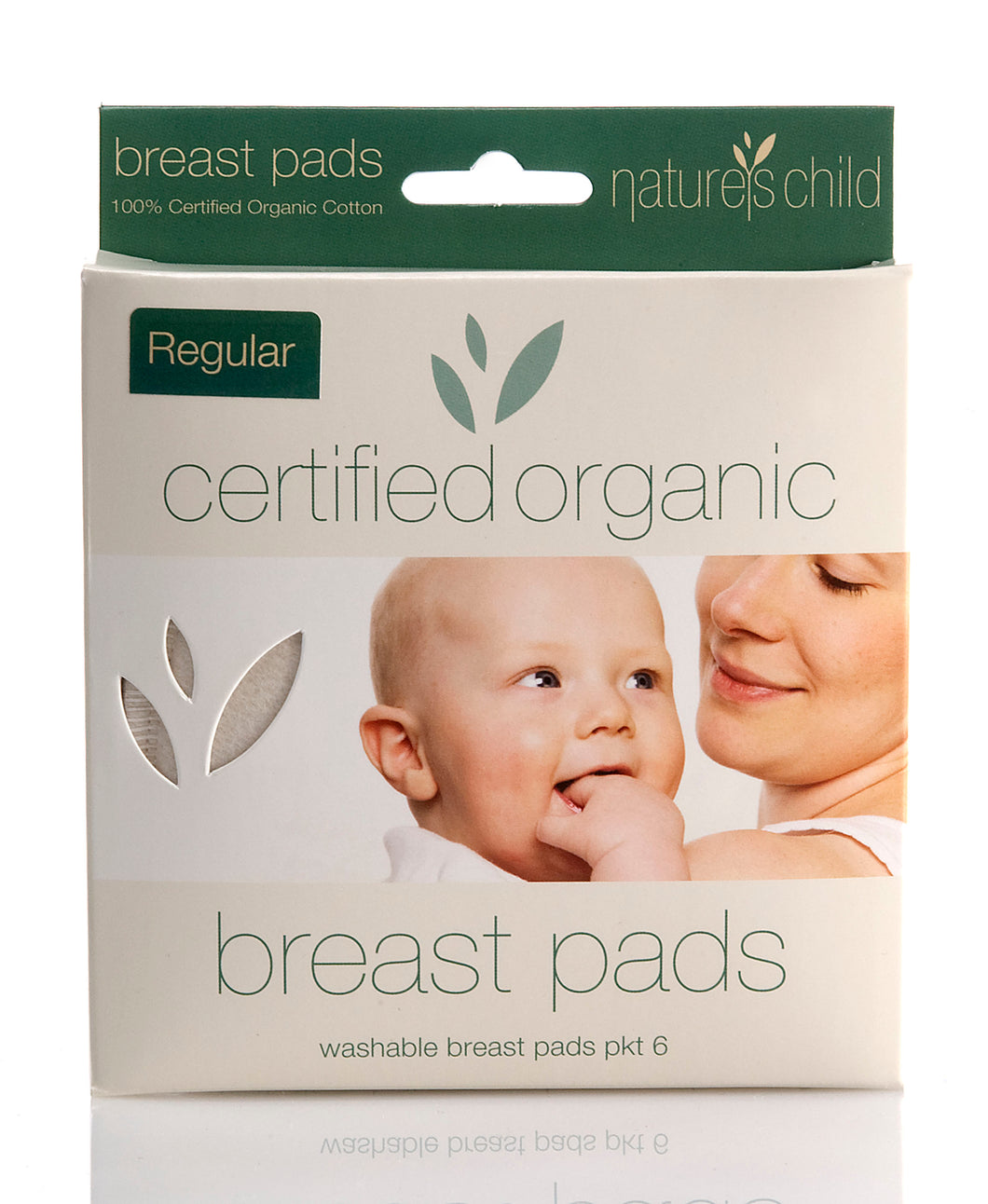 Nature's Child Organic Cotton Washable Breast Pads Pkt 6 - Regular