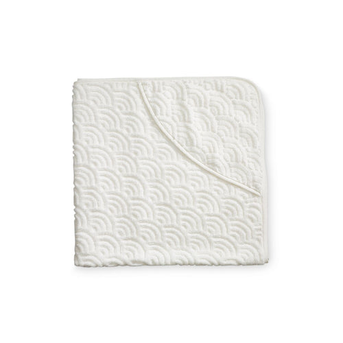 Cam Cam Copenhagen Hooded Baby Towel - Off White
