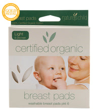 Nature's Child Organic Cotton Washable Breast Pads Pkt 6 - Light