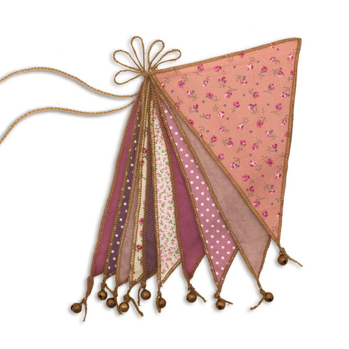 Numero 74 Mixed Flag Bunting - Pink