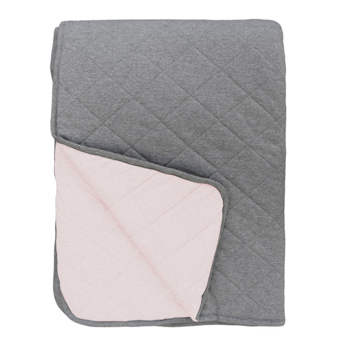 Mister Fly Reversible Cot Quilt - Pink/Charcoal