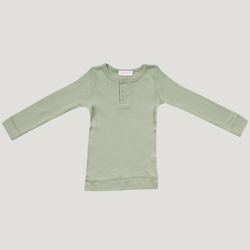 Jamie Kay Cotton Henley - Sage (Relaxed Fit)
