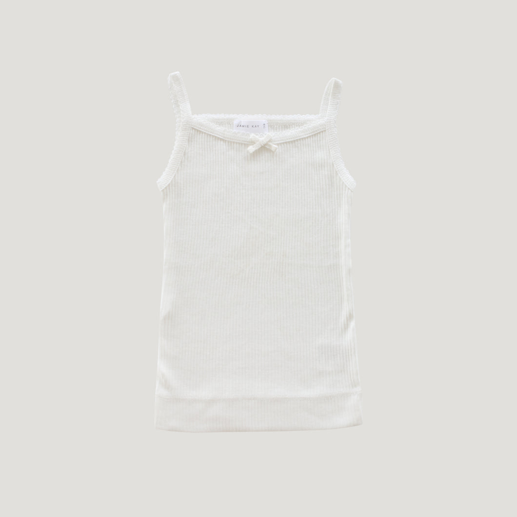 Jamie Kay Rib Essentials Singlet - Milk