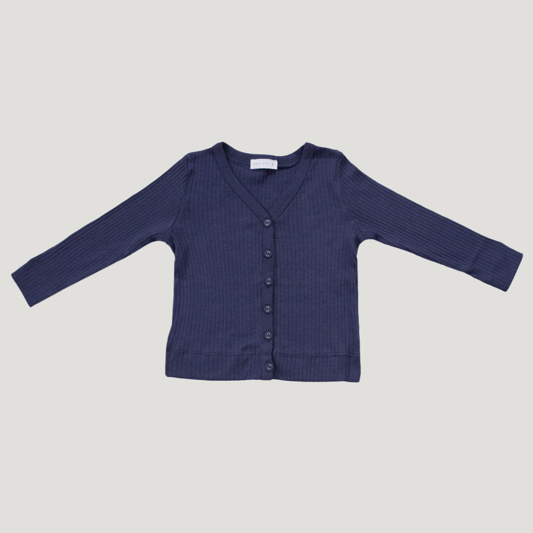 Jamie Kay Cotton Rib Cardigan - Navy