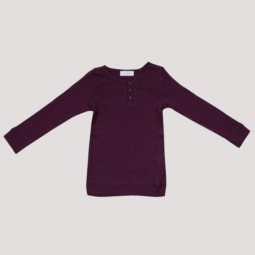 Jamie Kay Cotton Henley - Fig
