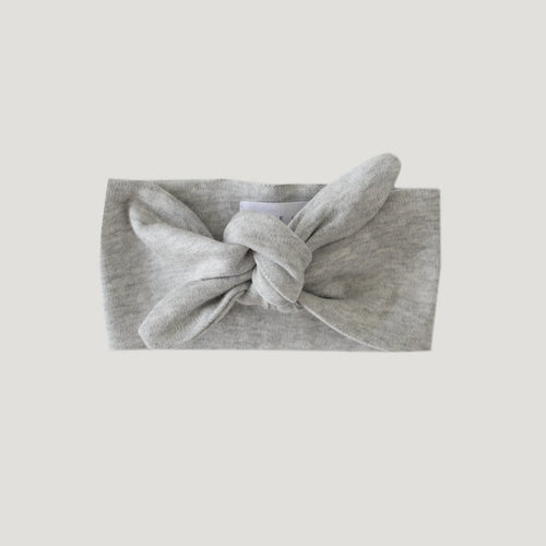 Jamie Kay Pima Cotton Headband - Light Grey Marle