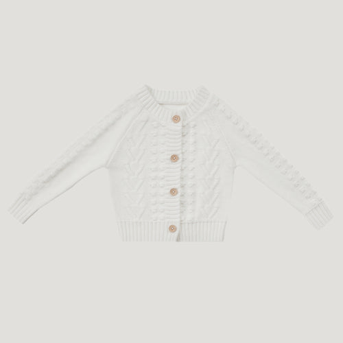 Jamie Kay Cable Cardigan - Milk
