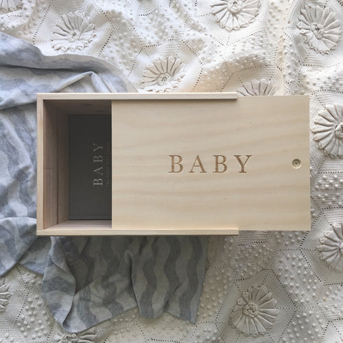 Write To Me Baby Keepsake Box