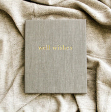 Write To Me Well Wishes Journal Grey - Guest Book