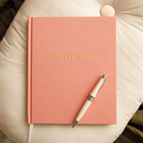 Write To Me Raising You Journal Pink - Letters To My Baby