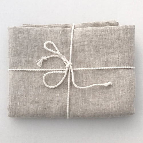 Dove & Dovelet Pure Linen Cot Sheet & Pillowcase - Natural