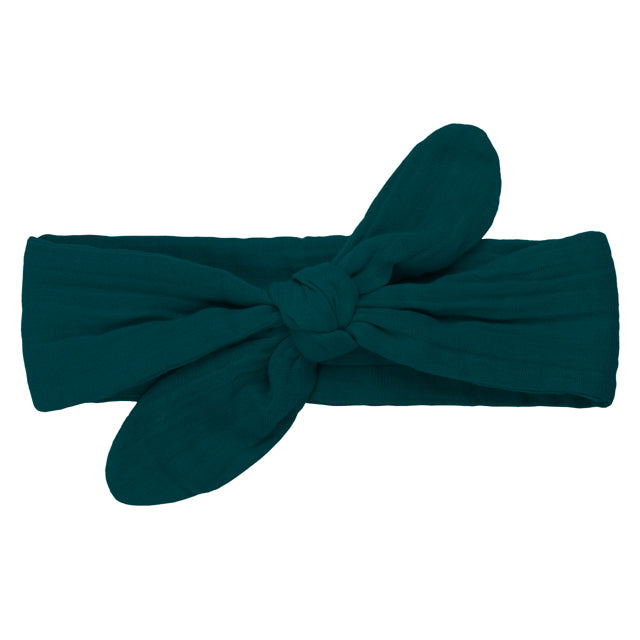 Numero 74 Romy Bow Headband - Teal Blue