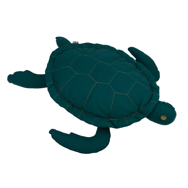 Numero 74 Samy Turtle Cushion - Teal Blue