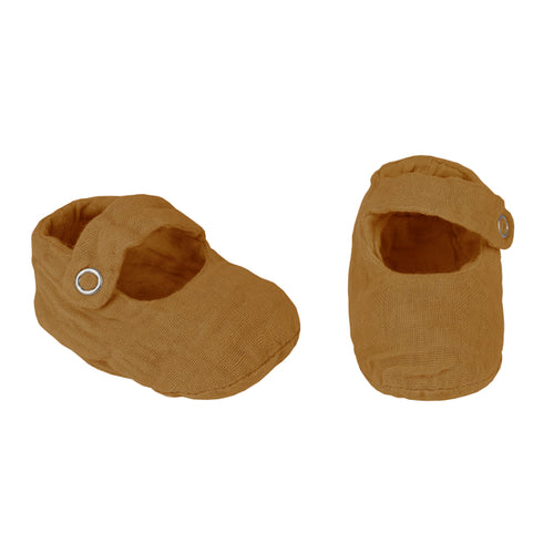 Numero 74 Sissi Baby Slippers - Gold
