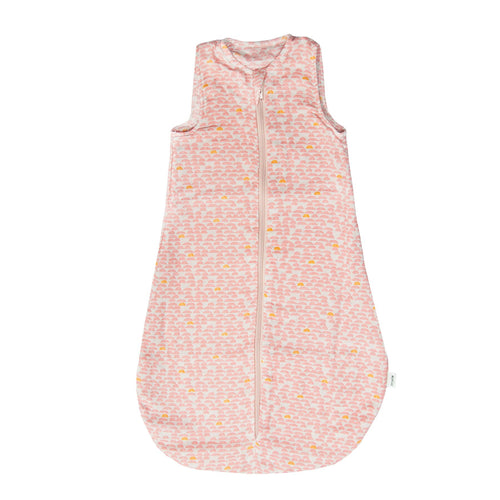 Trixie Muslin Sleeping Bag Pebble Pink