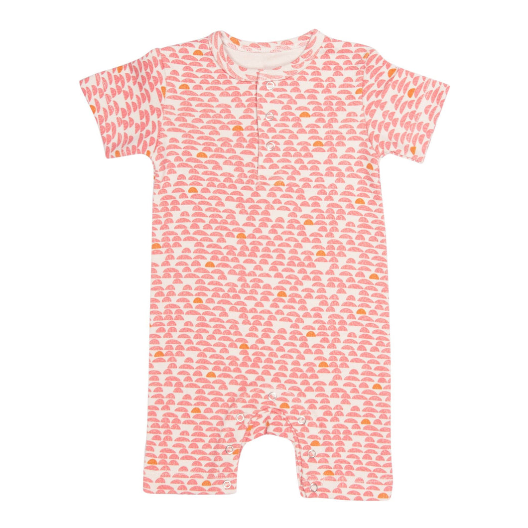 Trixie Short Sleeved Onesie Pebble Pink