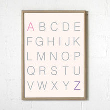 Sprout and Sparrow Alphabet Blush Print