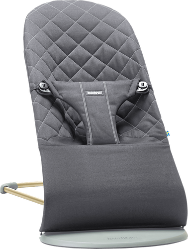 BabyBjorn Bouncer Bliss - Black Cotton