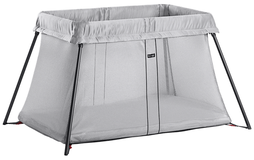 BabyBjorn Travel Cot - Silver Mesh