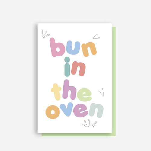 Sprout and Sparrow Bun In The Oven Card