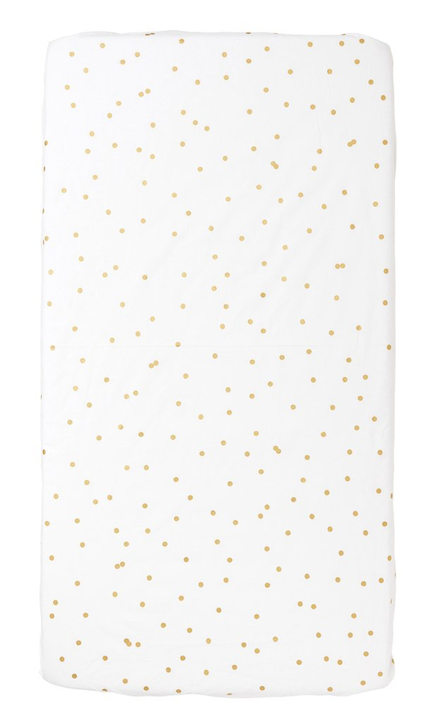 Feliz Sprinkle Sprinkle Cot Fitted Sheet Gold