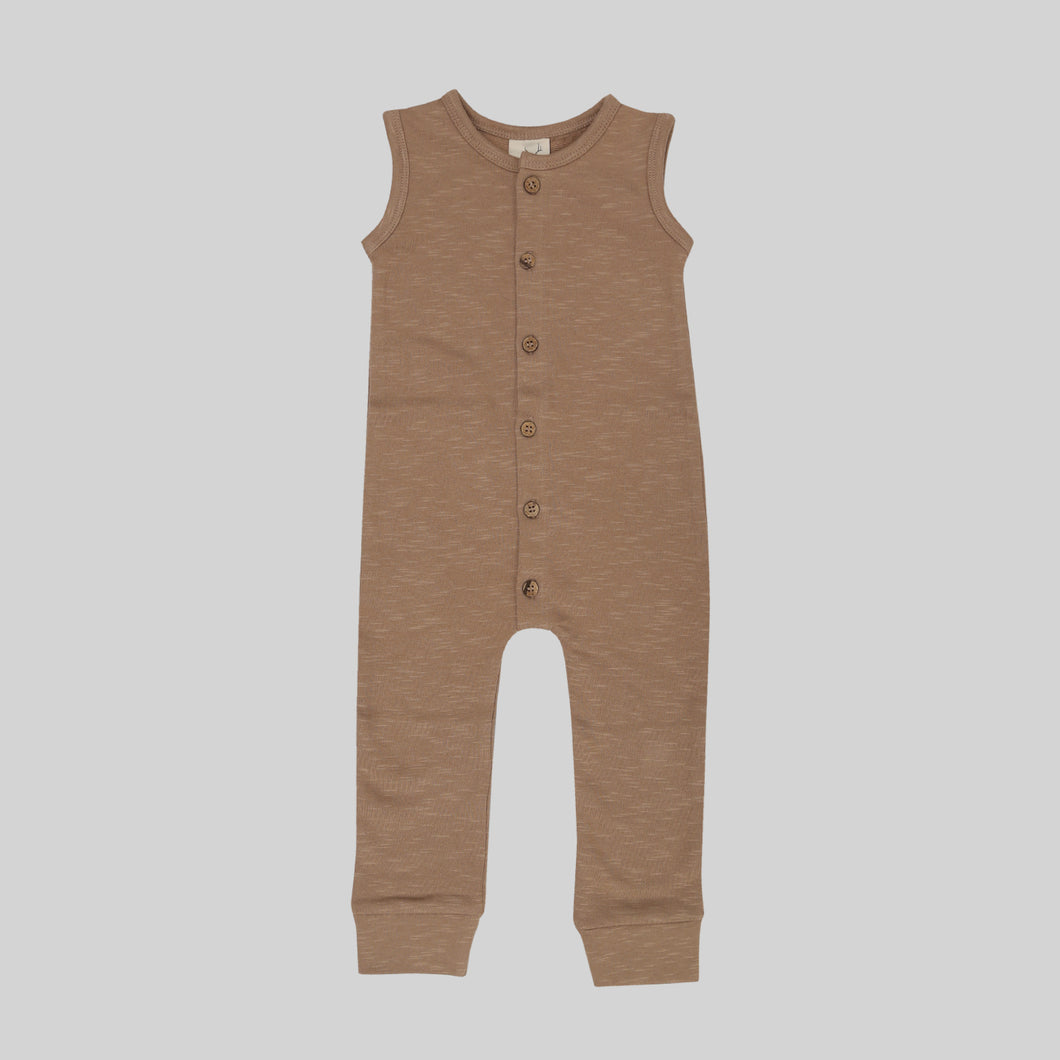 Buck & Baa hazelnut fleece jumpsuit