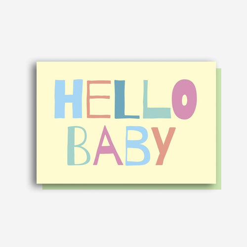 Sprout and Sparrow Hello Baby Card