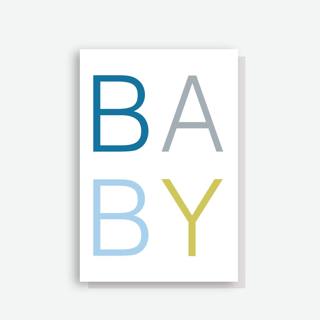 Sprout and Sparrow Scandi Baby Boy Card