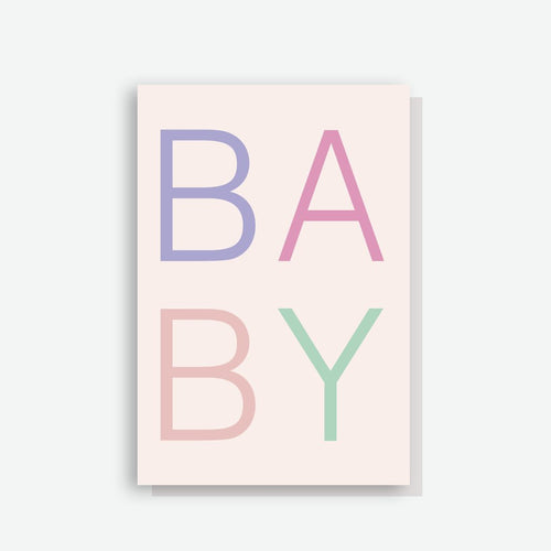 Sprout and Sparrow Scandi Baby Girl Card