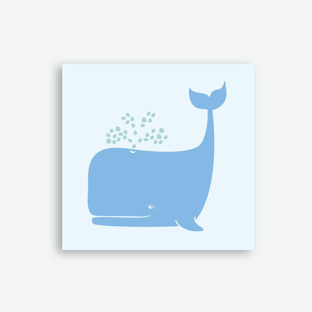 Sprout and Sparrow Whale Card