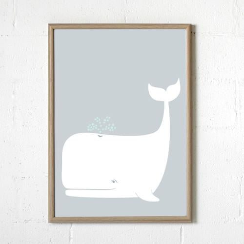 Sprout and Sparrow Wilbur Whale Print