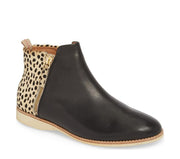SIDE ZIP BOOT BLACK/CHEETAH - Collectiveoutlet