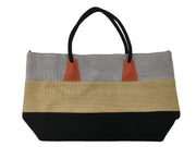 Silver/Khaki/Black Tote Bag - Collectiveoutlet
