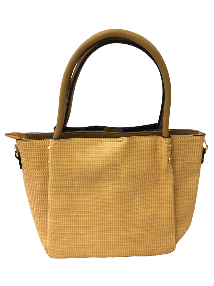Yellow Patterned Handbag - Collectiveoutlet
