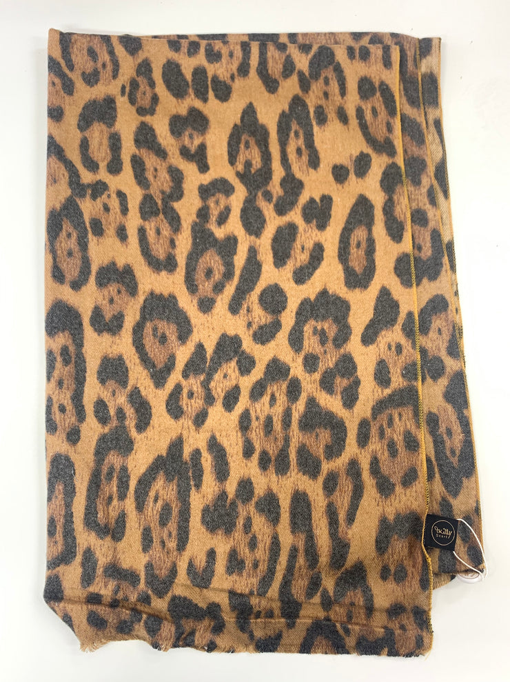 Leopard Print Scarf - Collectiveoutlet