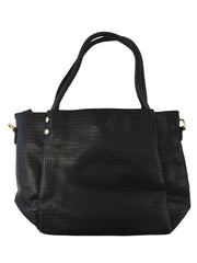 Black Patterned Handbag - Collectiveoutlet