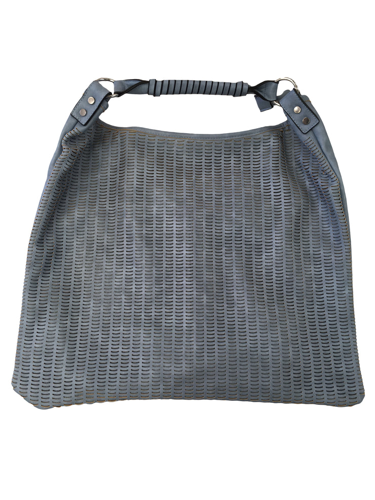 Blue Patterned Tote Bag - Collectiveoutlet