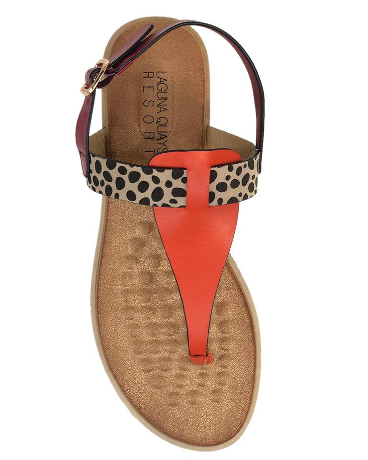 LAGUNA QUAYS MAWA FUCHSIA/ORANGE/CHEETAH - Collectiveoutlet