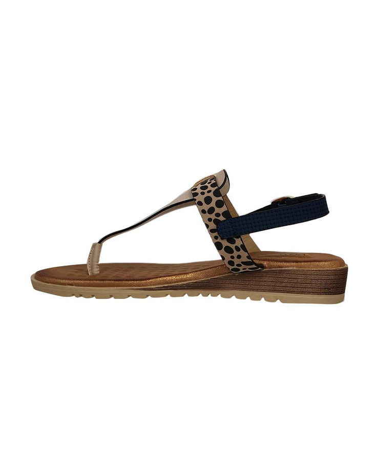 LAGUNA QUAYS MAWA NAVY/BLUSH/CHEETAH - Collectiveoutlet