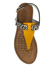 LAGUNA QUAYS MAWA WHITE/YELLOW/CHEETAH - Collectiveoutlet