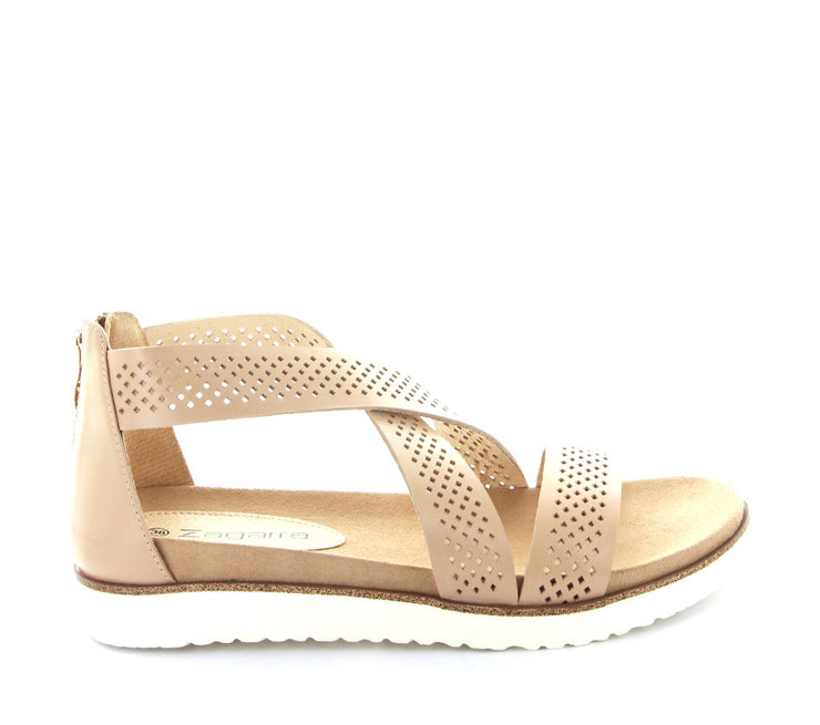 ZAGARRA MADELIN BEIGE - Collective Shoes