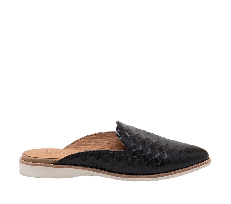 ROLLIE MADISON MULE BLACK CROC - Collectiveoutlet