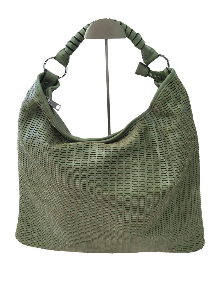 Green Patterned Tote Bag - Collectiveoutlet