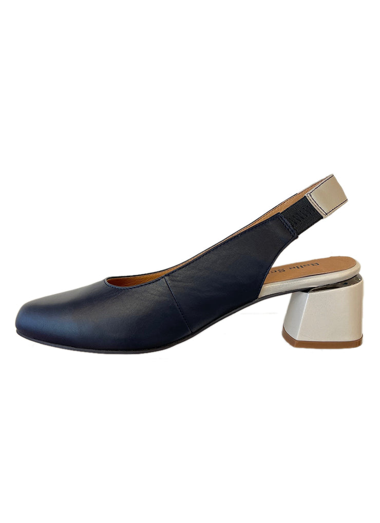 BELLE SCARPE ROTTINO NAVY/BONE - Collectiveoutlet