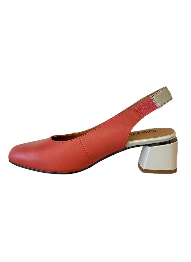 BELLE SCARPE ROTTINO CORAL/BONE - Collectiveoutlet