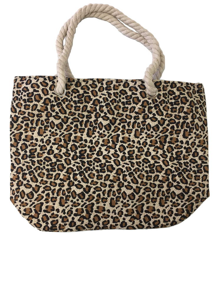 Leopard Tote Bag Coffee - Collectiveoutlet