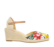 ZIERA AUTUMN FLORAL CANVAS TAN - Collectiveoutlet