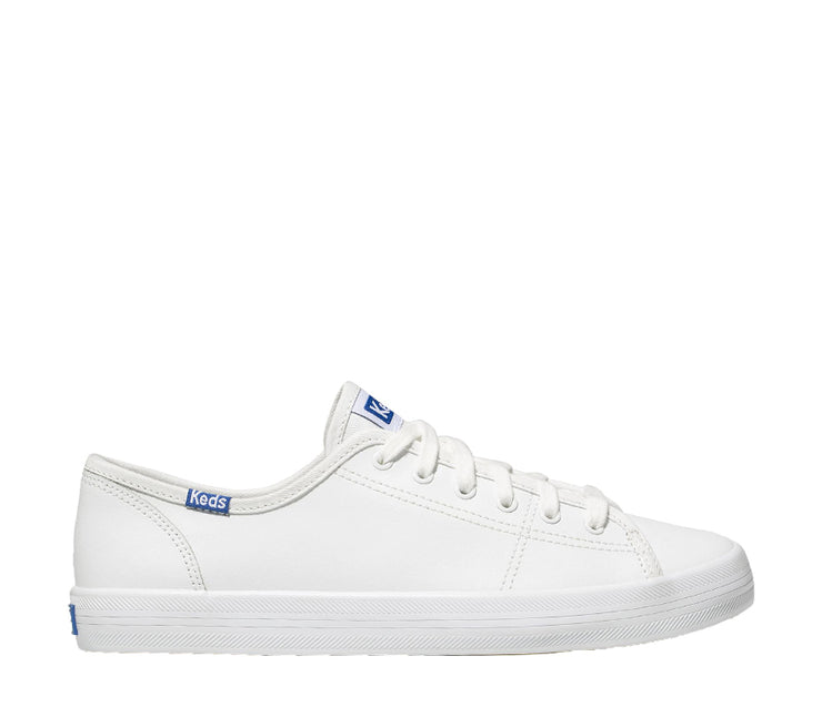 KEDS KICKSTART RETRO COURT LEATHER - WHITE/BLUE