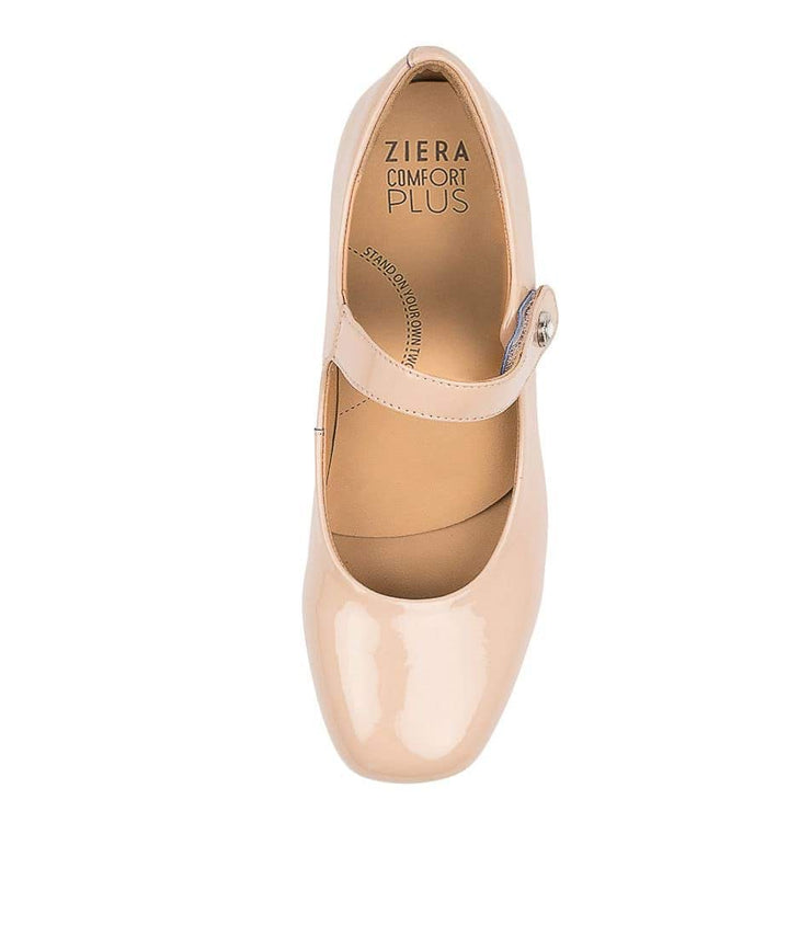 ZIERA KITTY NUDE PATENT - Collective Shoes