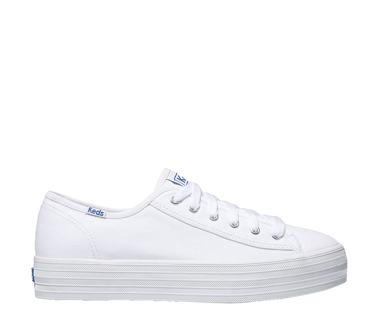 KEDS TRIPLE KICK CANVAS WHITE - Collectiveoutlet
